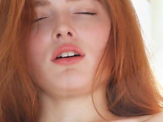 Girls red head naturally busty glamour