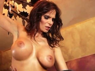 Hot cheating perky tits sex with two