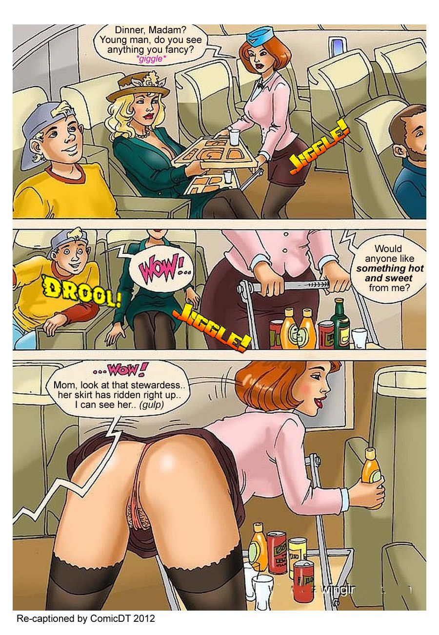 Flight attendant porn comic old people fucking photo 2